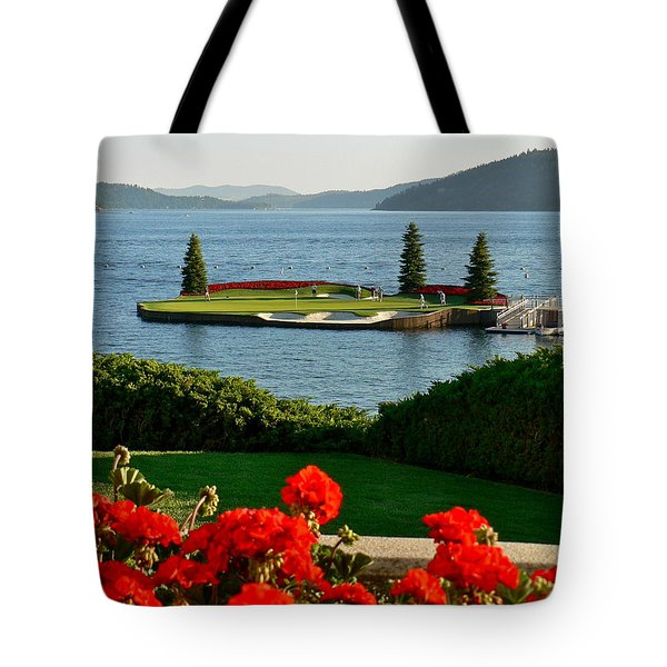 Floating Green Tote Bag