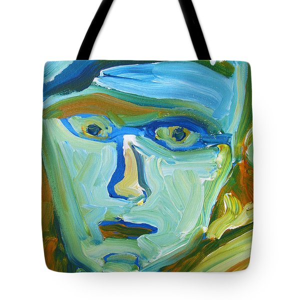 Floating Head Tote Bag
