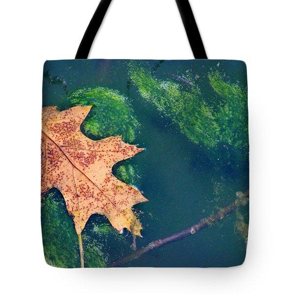 Floating Leaf  Tote Bag by Karen Adams