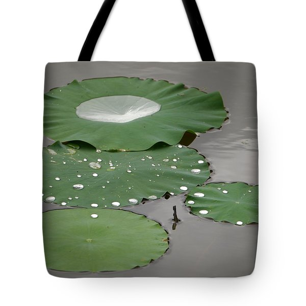 Floating Lotus Leaves Tote Bag