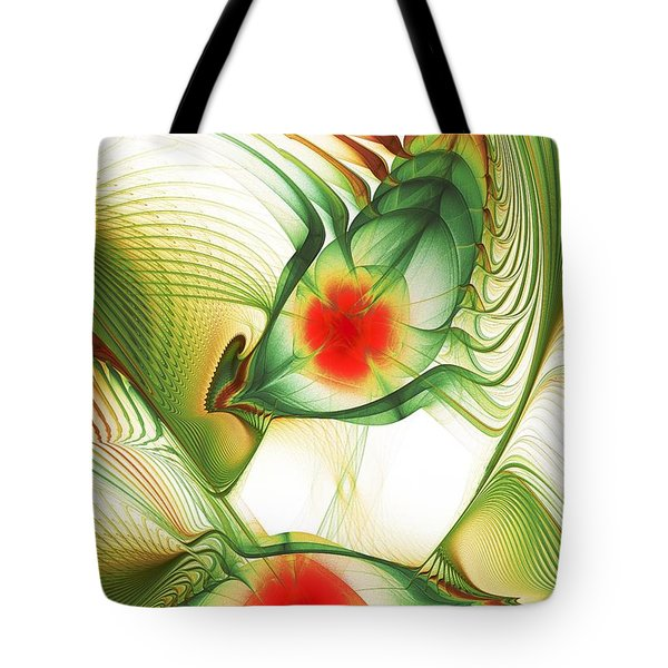 Tote Bag featuring the digital art Floating Thoughts by Anastasiya Malakhova