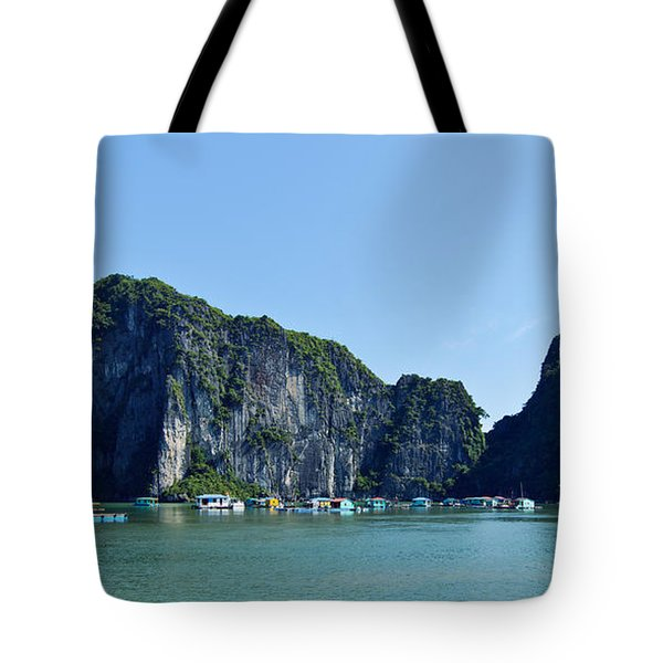 Floating Village Ha Long Bay Tote Bag
