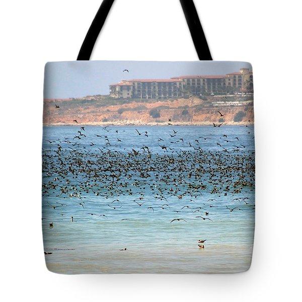Flocking At Terranea Tote Bag