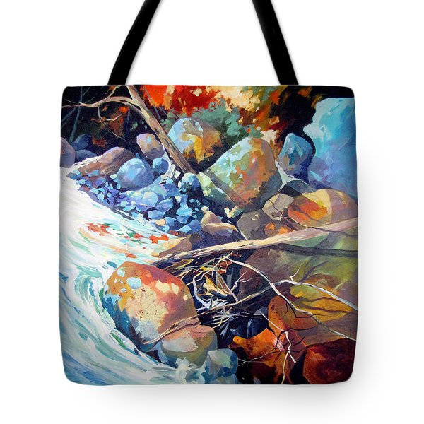Flood Plain Tote Bag by Rae Andrews