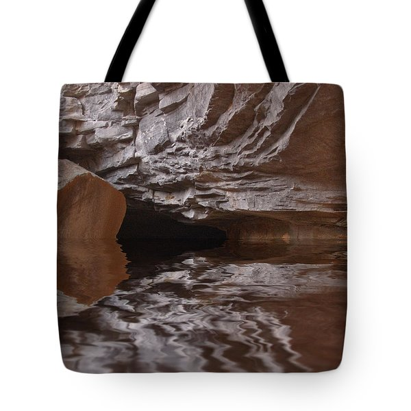 flooded Ohio cave Tote Bag