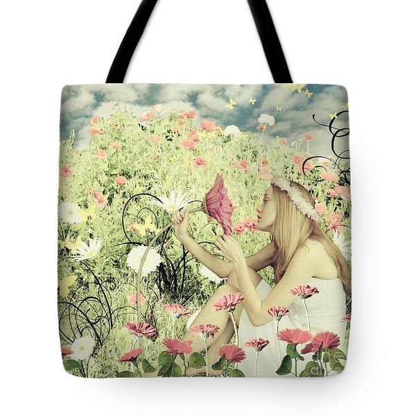 Flora Tote Bag by Linda Lees