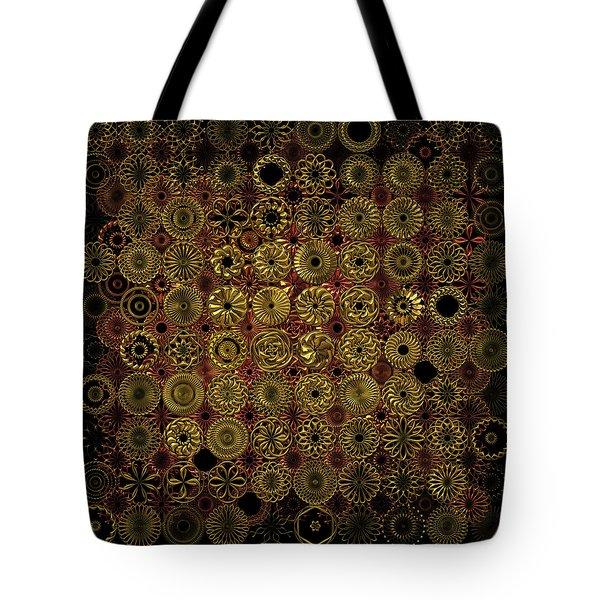 Flora Spiro Metal Quilt Tote Bag
