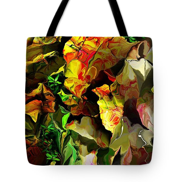 Tote Bag featuring the digital art Floral 082114 by David Lane