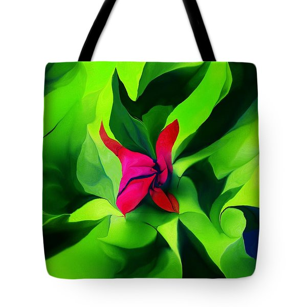 Tote Bag featuring the digital art Floral Abstract Play by David Lane