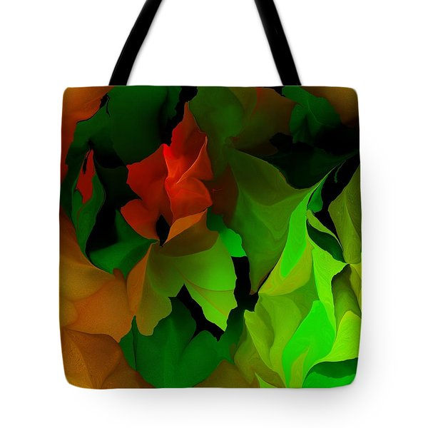 Tote Bag featuring the digital art Floral Abstraction 090814 by David Lane