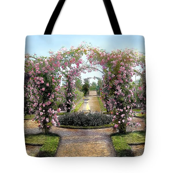 Floral Arch Tote Bag