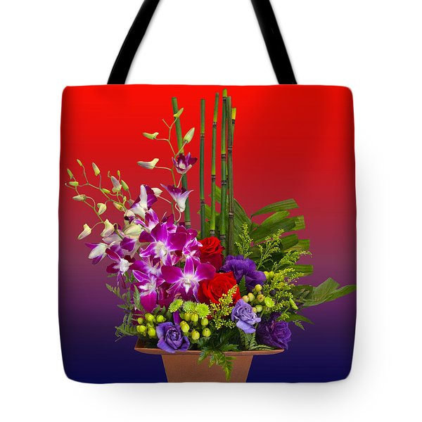 Floral Arrangement Tote Bag by Chuck Staley