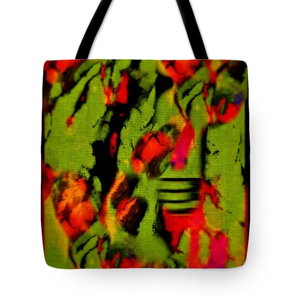 Floral Arrrangement Abstract Tote Bag by John Malone