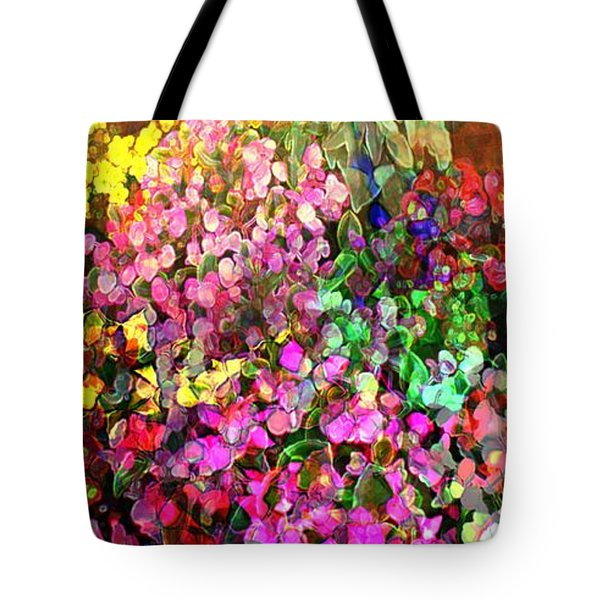 Floral Basket 1  2.4 To 1 Aspect Ratio Tote Bag