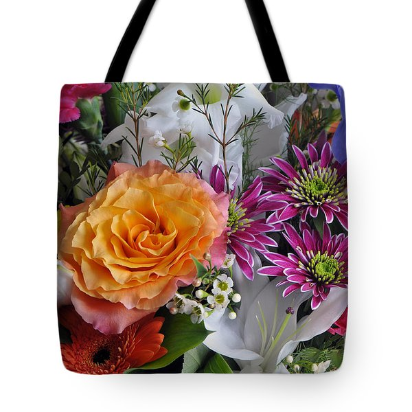 Floral Bouquet 6 Tote Bag by Sharon Talson