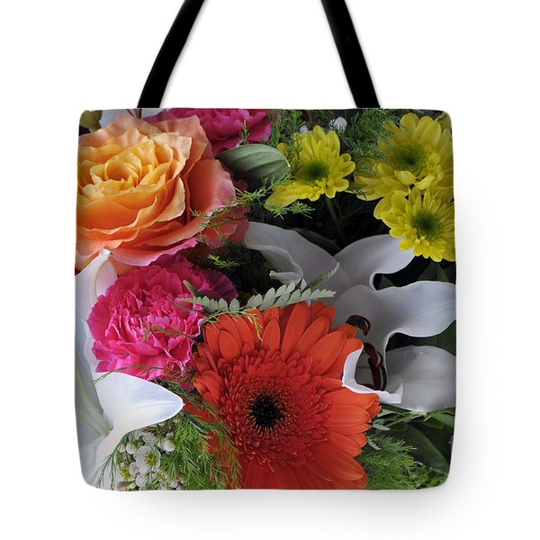 Floral Bouquet 7 Tote Bag by Sharon Talson