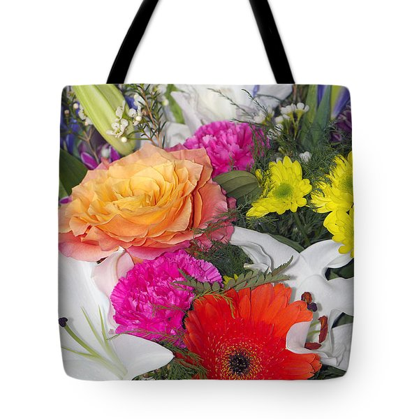 Floral Bouquet Tote Bag by Sharon Talson