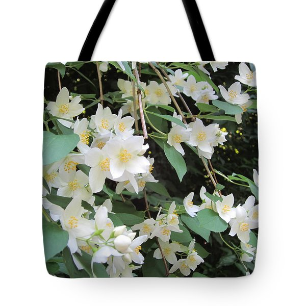 Floral Cascade Tote Bag