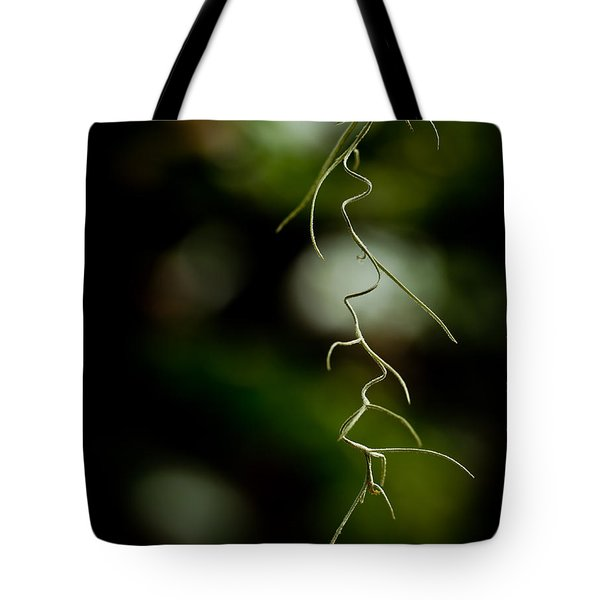 Floral Curves Tote Bag