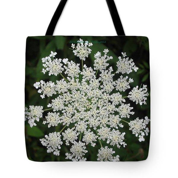 Floral Disc Tote Bag by Sonali Gangane