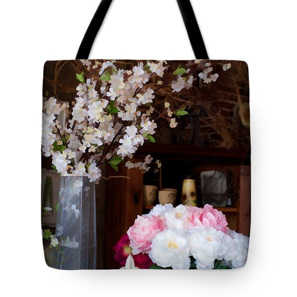 Floral Display Tote Bag by Liane Wright