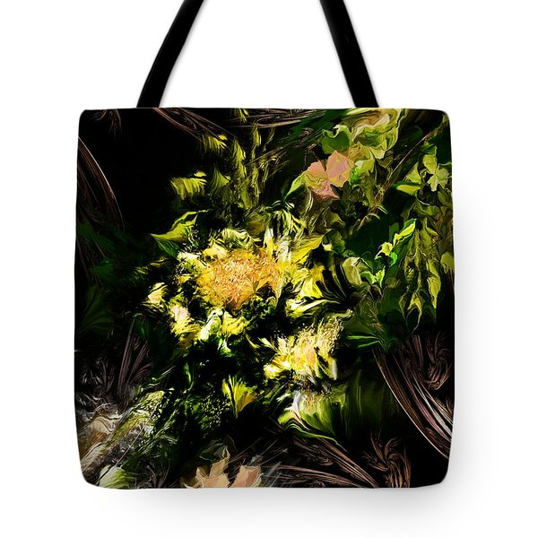 Tote Bag featuring the digital art Floral Expression 020215 by David Lane