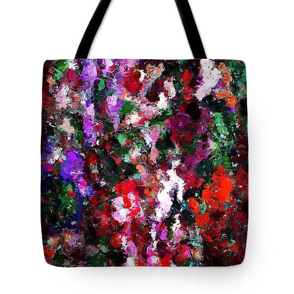 Floral Expression 021015 Tote Bag by David Lane