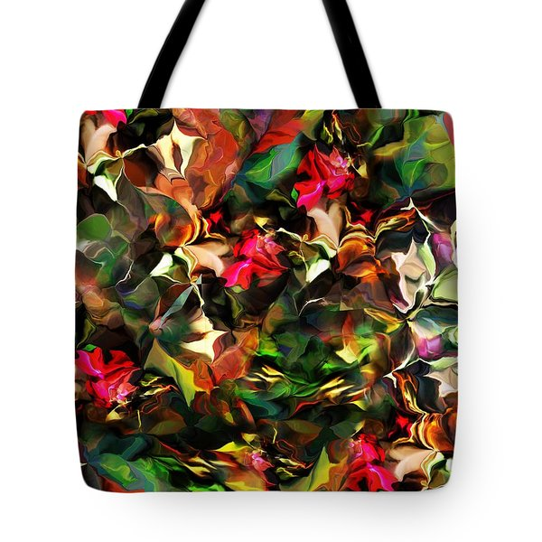 Tote Bag featuring the digital art Floral Expression 121914 by David Lane