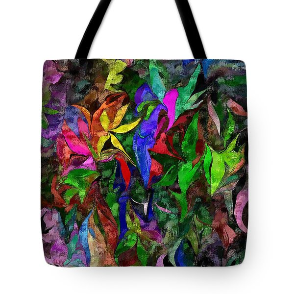 Tote Bag featuring the digital art Floral Fantasy 012015 by David Lane