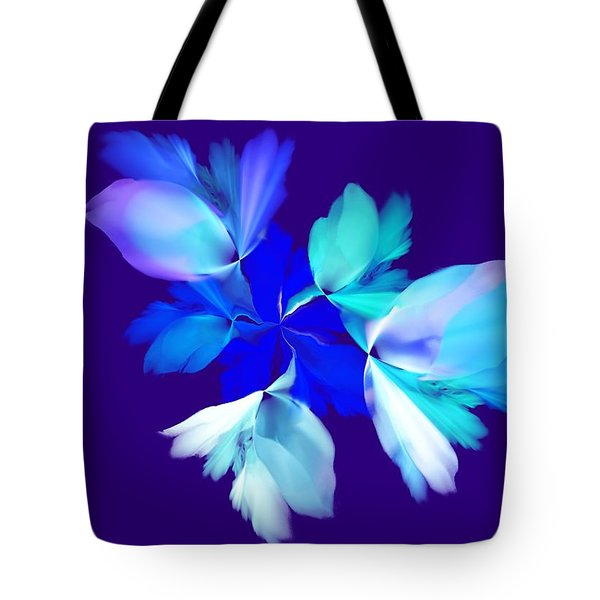 Tote Bag featuring the digital art Floral Fantasy 012815 by David Lane