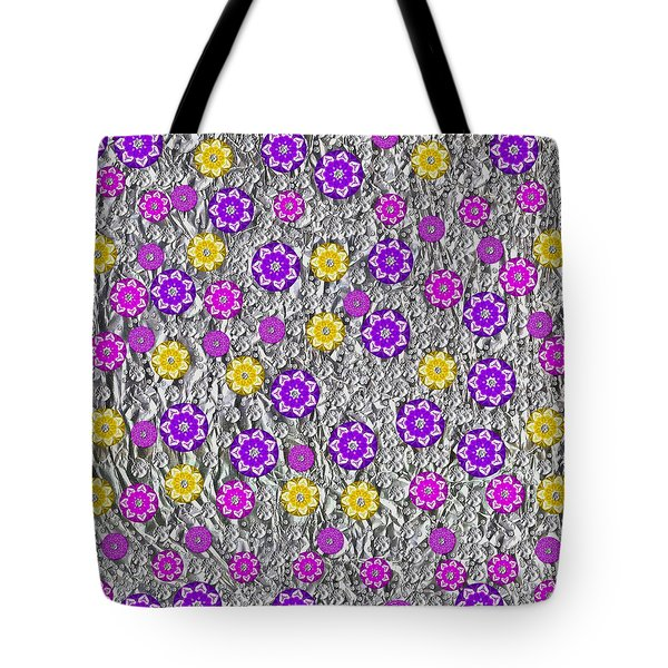 Floral Fantasy And Silver  Tote Bag