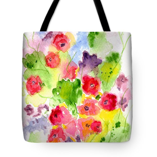 Tote Bag featuring the painting Floral Fantasy by Paula Ayers
