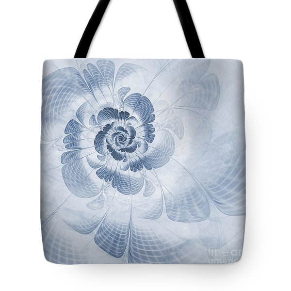 Floral Impression Cyanotype Tote Bag