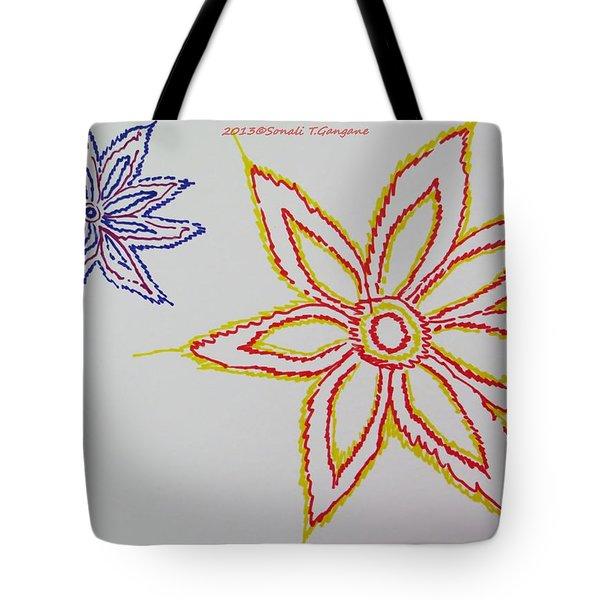 Floral Joy  Tote Bag by Sonali Gangane