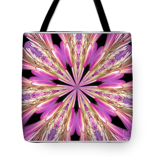 Tote Bag featuring the photograph Floral Kaleidoscope  Waterlily by Rose Santuci-Sofranko