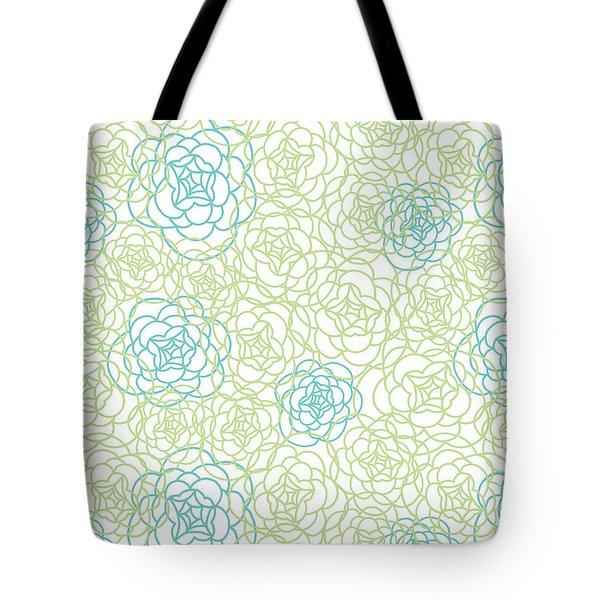 Floral Lines Tote Bag