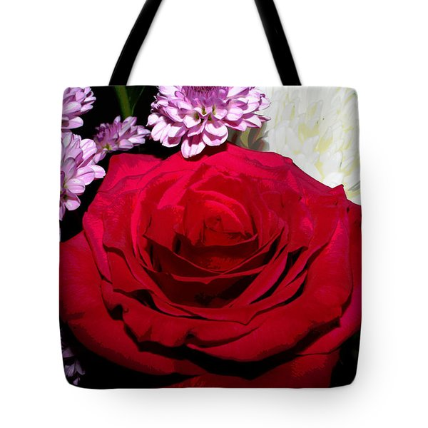 Floral Arrangement - Posterized Tote Bag