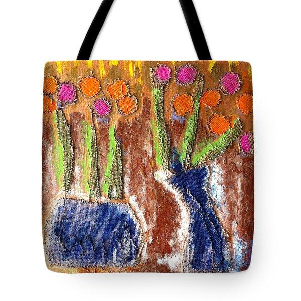 Floral Puffs Tote Bag