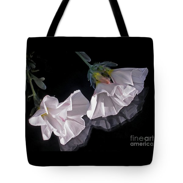 Floral Reflections Tote Bag by Kaye Menner