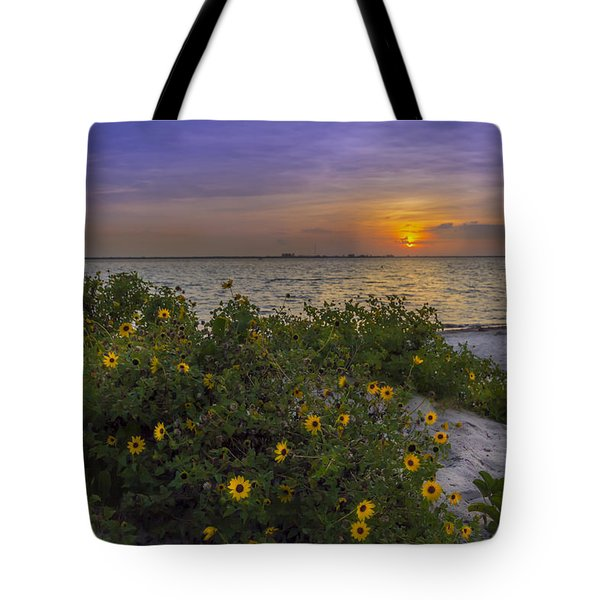 Floral Shore Tote Bag