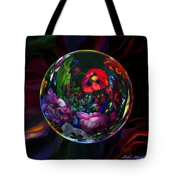 Floral Still Life Orb Tote Bag by Robin Moline