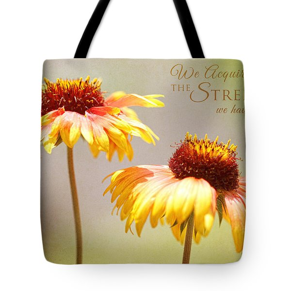 Floral Sunshine With Message Tote Bag