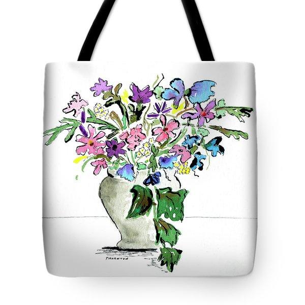 Floral Vase Tote Bag