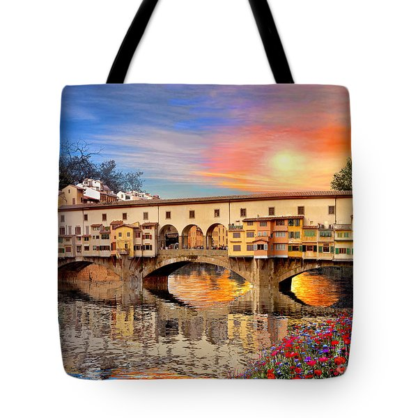 Florence Bridge Tote Bag by Dominic Davison