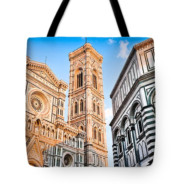 Florence Cathedral At Sunset Tote Bag