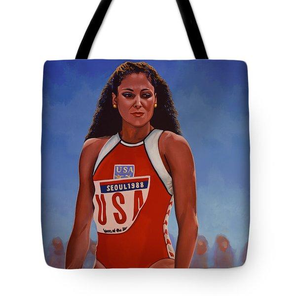 Florence Griffith - Joyner Tote Bag by Paul Meijering