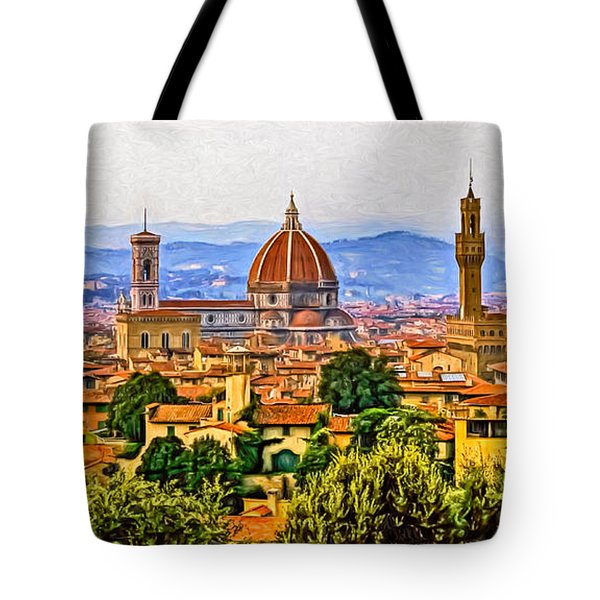 Florence Panorama - Paint Tote Bag