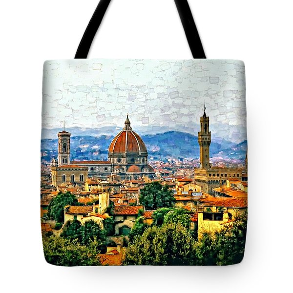 Florence Watercolor Tote Bag by Steve Harrington