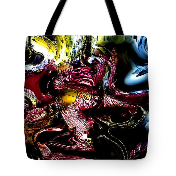 Tote Bag featuring the digital art Flores' Darker More Uncomfortable Twin by Richard Thomas