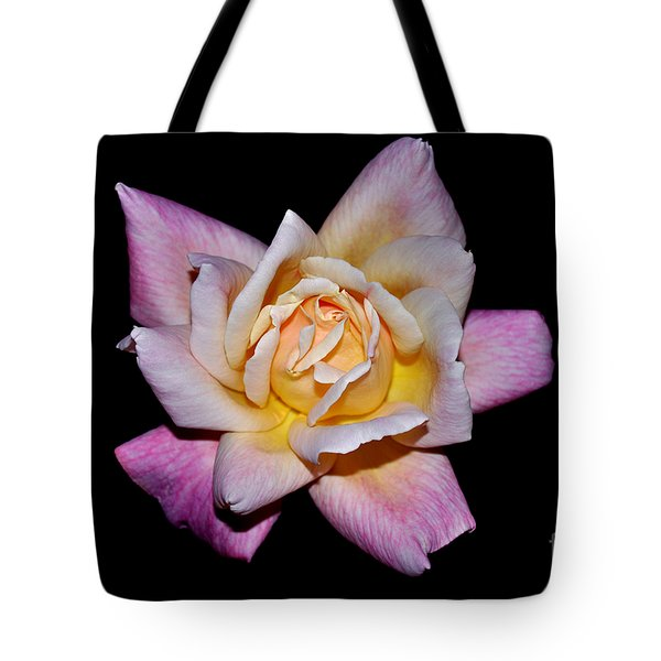 Tote Bag featuring the photograph Floribunda Rose In Full Bloom by Susan Wiedmann